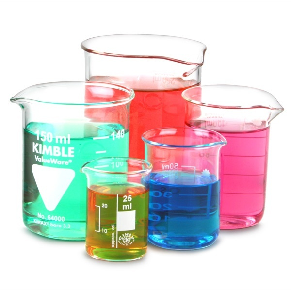 25ml 50ml 100ml 150ml & 250ml Laboratory Borosilicate Glass Beaker Set
