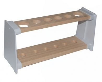 WOODEN TEST TUBE STAND RACK 6 HOLE ALL 32MM