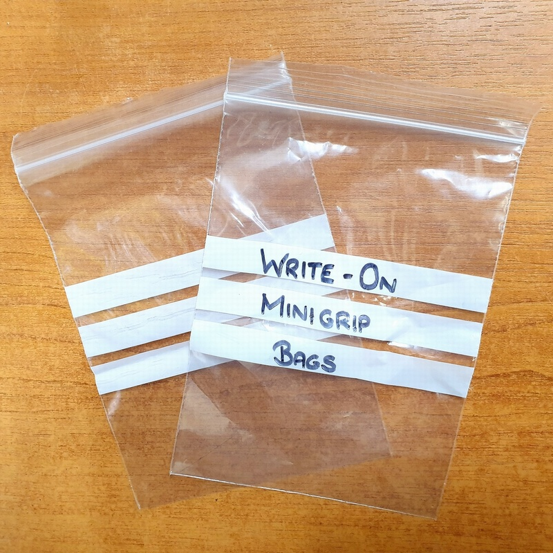 Write On Label Minigrip Bags