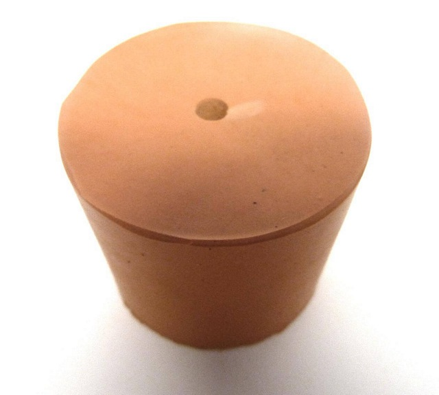 RUBBER STOPPER/BUNG ONE HOLE PACK OF ONE - SIZES 5-21