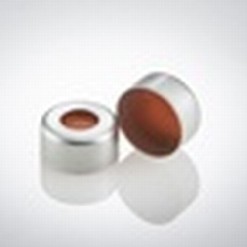 11mm Crimp cap with orange silicone/ptfe septa (PK/1000)