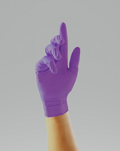 Stronghold purple nitrile glove - pharmaceutical, laboratory and medical use