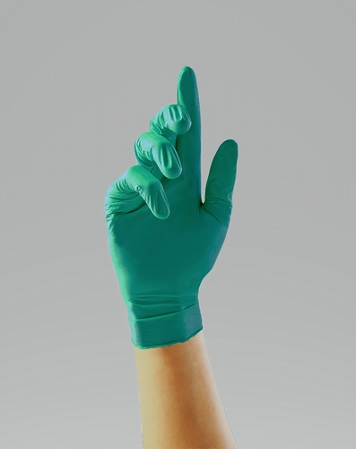 PRO.TECT green heavy duty nitrile gloves enhanced chemical splash protection