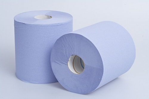 2 Ply Blue Centre Feed Roll (395 Sheets)