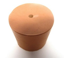 RUBBER STOPPERS/BUNGS ONE HOLE PACKS OF 10